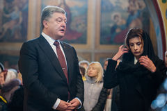 乌克兰政客纪念被杀死的EuroMaidan活动家记忆  免版税库存图片