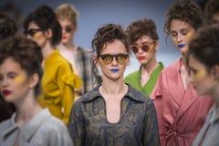 乌克兰时尚星期在Kyiv,乌克兰 免版税图库摄影
