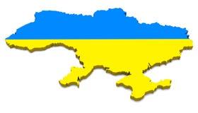 乌克兰映射 库存照片