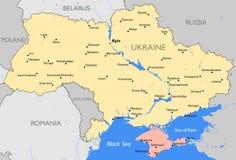 乌克兰映射 免版税库存图片