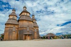 乌克兰木教会 库存照片