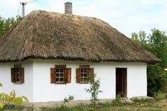 乌克兰村庄房子 免版税库存照片