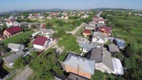 乌克兰村庄的鸟瞰图 寄生虫视图 图库摄影