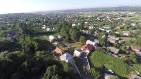 乌克兰村庄的鸟瞰图 寄生虫视图 库存图片