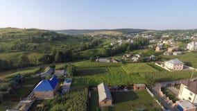 乌克兰村庄的鸟瞰图 寄生虫视图 免版税图库摄影