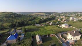 乌克兰村庄的鸟瞰图 寄生虫视图 免版税库存照片
