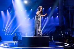 从乌克兰欧洲电视网的Jamala 2017年 库存照片