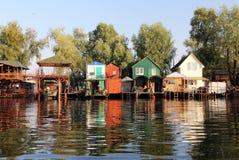 乌克兰渔夫村庄 库存照片
