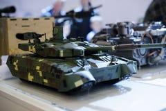 乌克兰生产坦克的现代军用设备模型  免版税图库摄影