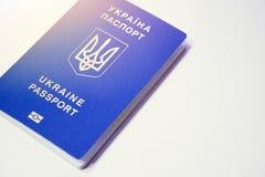 乌克兰生物统计的护照 免签证政权 图库摄影