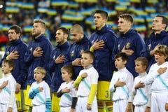 乌克兰的国家橄榄球队的球员 免版税库存照片