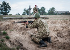 乌克兰的武力的培训中心 图库摄影