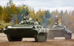 乌克兰的武力 免版税库存图片