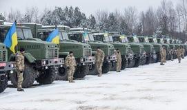 乌克兰的武力 库存图片