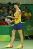 乌克兰的职业网球球员Elina Svitolina行动的在期间选拔围绕三里约2016年奥运会的比赛 免版税库存照片
