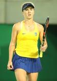 乌克兰的职业网球球员Elina Svitolina行动的在期间选拔围绕三里约2016年奥运会的比赛 库存照片
