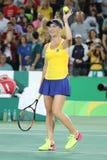 乌克兰的职业网球球员Elina Svitolina行动的在期间选拔围绕三里约2016年奥运会的比赛 图库摄影