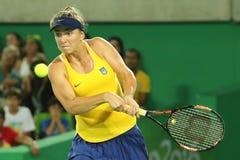 乌克兰的职业网球球员Elina Svitolina行动的在期间选拔围绕三里约2016年奥运会的比赛 库存图片