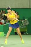 乌克兰的职业网球球员Elina Svitolina行动的在期间选拔围绕三里约2016年奥运会的比赛 免版税图库摄影