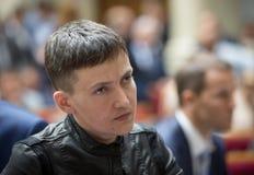 乌克兰的英雄,乌克兰Nadiya Savchenko的人代理 库存照片