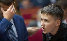 乌克兰的英雄,乌克兰Nadiya Savchenko的人代理 库存图片