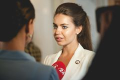 乌克兰的议会的Alyona Kosheleva议员 库存图片