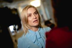 乌克兰的议会的Tetiana Ostrikova议员 免版税库存照片