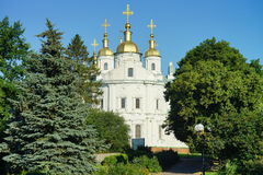 乌克兰的建筑学 波尔塔瓦市 免版税库存照片