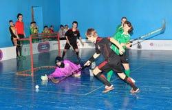 乌克兰的Floorball冠军2011-2012 库存照片