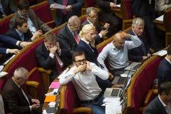 乌克兰的Verkhovna Rada的会议 免版税库存照片