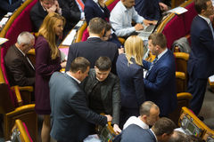 乌克兰的Verkhovna Rada的会议 库存照片