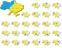 乌克兰省地图 免版税库存照片