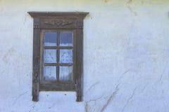 乌克兰种族农村房子窗口细节  库存图片