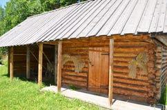 乌克兰粮仓在村庄 库存照片
