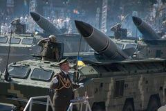 乌克兰美国独立日的军事游行 免版税库存照片