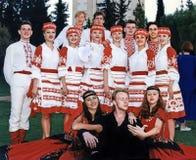 乌克兰舞蹈马戏团在以色列 免版税库存照片