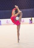 乌克兰节奏体操冠军2014年 免版税库存照片
