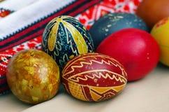 乌克兰语的复活节彩蛋 库存图片