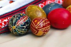 乌克兰语的复活节彩蛋 免版税库存图片