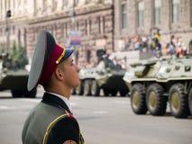 乌克兰语的战士 免版税库存照片