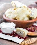 乌克兰语的饺子 免版税库存照片