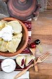 乌克兰语的饺子 免版税库存图片