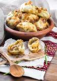 乌克兰语的饺子 库存图片