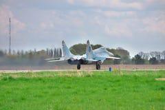 乌克兰语空军队米格-29 库存图片