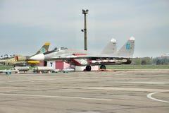 乌克兰语空军队米格-29 库存照片