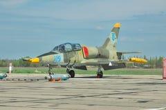乌克兰语空军队航空L-39 Albatros 库存图片