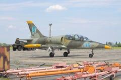 乌克兰语空军队L-39 库存图片