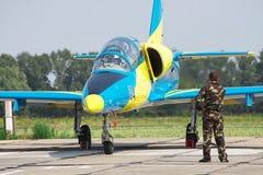乌克兰语空军队L-39 免版税库存照片