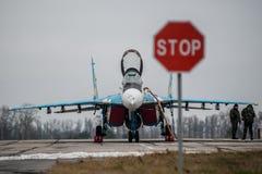 乌克兰语米格-29 免版税库存图片