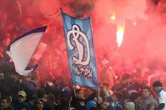 乌克兰语英格兰足球超级联赛:发电机Kyiv对Shakhtar顿涅茨克 库存照片